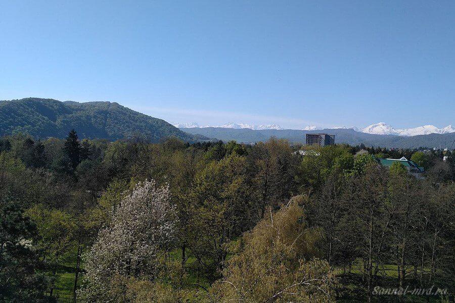 Вид с балкона санаторий Нальчик
